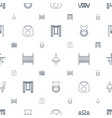 kid icons pattern seamless white background vector image vector image