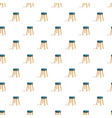 kitchen chair pattern seamless vector image