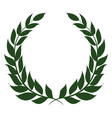 laurel wreath on white background vector image vector image