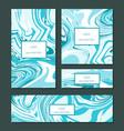 liquid swirls handmade texture business cards vector image