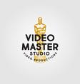 logo video production award oskar gold vintage vector image