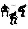 man in Jumping pose on white background vector image