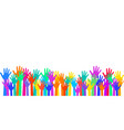 many children arms together vector image