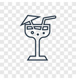 margarita concept linear icon isolated on vector image vector image