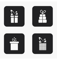 modern gift icons set vector image vector image