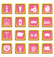 oktoberfest icons pink vector image