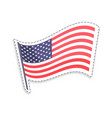 old glory on pole usa flag vector image