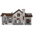 old house with brown roof vector image vector image