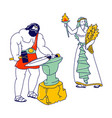 olympic gods characters hephaestus or vulcan vector image