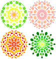 Ornaments with leaves vector image vector image