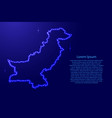 pakistan abstract schematic map from luminous vector image vector image