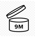 pao 9m icon cosmetic open month life shelf vector image vector image