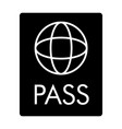 Passport solid icon document