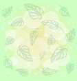 pattern of green leaves monstera on background of vector image vector image