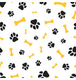 pets paw pattern vector image