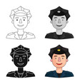 policeman icon in cartoon style isolated on white vector image vector image