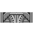 polynesian ethnic pattern vector image vector image