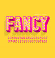 retro cinema font design cabaret lamps letters vector image