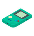 retro portable game console in isometric view vector image vector image