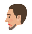 sad man face in profile view flat icon vector image vector image