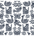 scandi animals pattern vector image vector image
