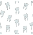 Seamless blue teeth pattern on white background vector image
