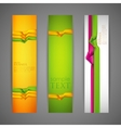 set banners with multicolored ribbons vector image vector image