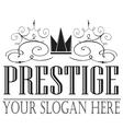 Set Beautiful Prestige Logo Designs Business sig vector image vector image