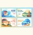 set four online web travel templates vector image