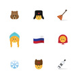 Set of russian emoticon vector image
