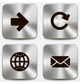 Set of web icons on metallic buttons vol1 vector image vector image