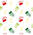 sketch christmas cloth pattern vector image