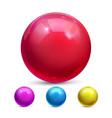sphere ball orb shining magic globe vector image vector image