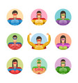 super men avatars set vector image