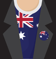 T-Shirt With Australia Flag vector image vector image