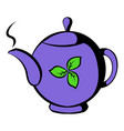 teapot with tea icon icon cartoon vector image