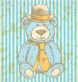 Teddy Hat Tie vector image vector image