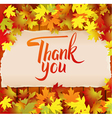 Thank you hand drawn calligraphy background vector image vector image