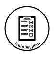 Training plan tablet icon vector image vector image