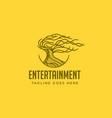 tree entertainment logo vector image vector image