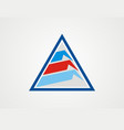 triangle business finance company logo vector image vector image