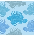 Venomous marine fish seamless pattern vector image vector image