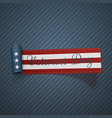 veterans day realistic scroll textile ribbon vector image
