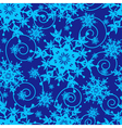 Winter blue seamless pattern with snowflakes vector image vector image