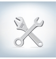 wrench and spanner icon vector image vector image