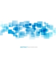 Blue shiny squares technical background vector image