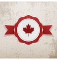 Canada patriotic Badge with Ribbon vector image