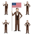 Set of Lincoln icons vector image