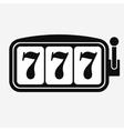 Lucky seven Slot machine vector image