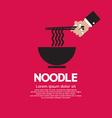 Noodles EPS10 vector image